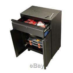 Husky Garage Cabinet Set 3 Pièces Robuste En Acier Soudé De Stockage (noir Mat)