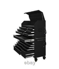 Husky Hd 56 Po. Ensemble De Coffres Et D'armoires À Outils Combinés W 18-drawer, Noir Mat