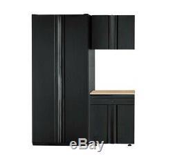 Husky Heavy Duty Soudé 64 X 81 X 24 En Acier Garage Cabinet Set Noir (3 Pièces)