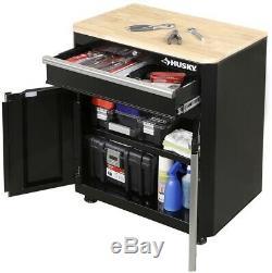 Husky Steel Garage Cabinet Set En Noir (3 Pièces) 1 Tiroir 2 Portes Grommet Nouveau