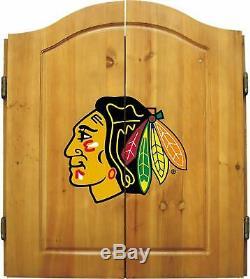 Imperial Cabinet Sous Licence Officielle NHL Dart Cabinet Set Avec Dartboa À Poils En Acier