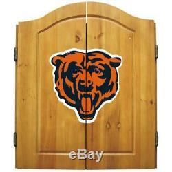Imperial NFL Merchandise Dart Cabinet Set Steel Tip Dartboard Bears De Chicago