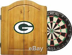 Imperial NFL Merchandise Dart Cabinet Set Steel Tip Dartboard Packers De Green Bay