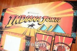 Indiana Jones Pinball Machine De Cabinet Autocollants Side Art Ensemble Complet Tout Neuf