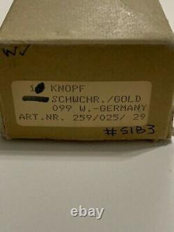 Jado Allemagne Boutons De Cabinet Ensemble De 10 Ébène Avecperlrand 24k Gold Plated Center