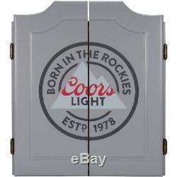 Jeu De Fléchettes Cabinet De Fléchettes En Bois Coors Light Inclus 6 Fléchettes À Pointe En Acier