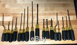 Klein Tools 17 Pièces Assorties Ensemble De Tournevis, Phillips / Cabinet / Keystone