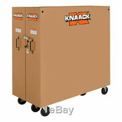 Knaack 100 60,9 Cu Ft 16 Ga Steel Pliant De Roulement En Acier Cabinet With6 Set Caster