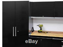 Le Système Commercial De Plan De Travail De Garage De Garage De Voiture A Placé Des Armoires En Acier D'entrepôt De Mur