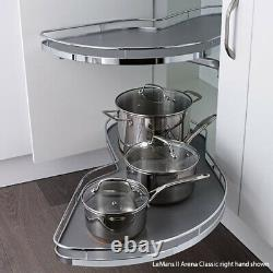 Lemans II Set Two Shelf Lazy Susan With Soft-close For Blind Corner Cabinets