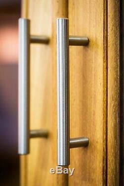 Lot 25-500 Barre En T En Acier Inoxydable Poignées De Porte D'armoires De Cuisine Poignée De Tiroir Bouton B