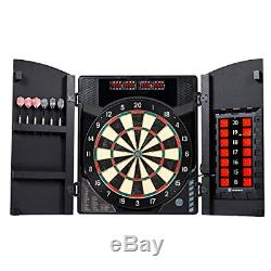 MD Sport Bristlesmart Avec Dartboard Cabinet, Steel Tip Darts Set, Électronique