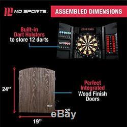 MD Sport Jeu De Fléchettes Électronique Cabinet Set Bristlesmart (tip Steel Fléchettes)