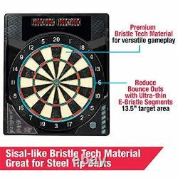 MD Sports Bristlesmart Dartboard Avec Armoire Steel Tip Darts Set Electronic