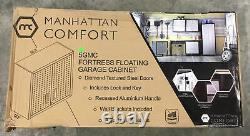 Manhattan Comfort 5gmc Set Fortress Floating Garage Cabinet, Acier Inoxydable