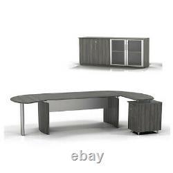 Mayline Mnt7lgs Medina Desk/armoire Set 7, Gris