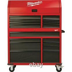 Milwaukee 16-drawer Red Steel Coffret D'outils Et Ensemble D'armoire À Rouleaux, Verrouillable