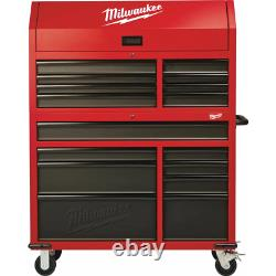 Milwaukee Tool Poitrine/cabinet Set 46 Po. 16-drawer Soft Close Lockable Steel Red