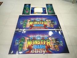 Monster Bash Pinball Cabinet Art Decal Set Flambant Neuf, Parfait