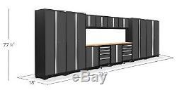 Newage 3.0 Pro Series 14 Pièces Garage Armoires Set Gris, Navires Neufs De L'usine