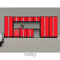 Newage Gras 3.0 12 Pièces D'outils Garage Armoires Set Coffre Workbench Gris Ou Rouge