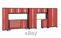 Newage Gras 3.0 Série 11 Pièces Xp Garage Ensemble Cabinet En Rouge, Ship De Magasin