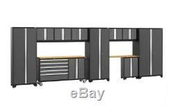 Newage Gras 3.0 Série 11 Pièces Xp Garage Ensemble Cabinet Gris, Ship De Magasin