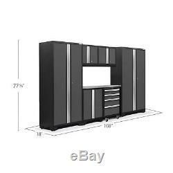 Newage Outil Cabinet Gras 3.0 7 Pièces En Acier Inoxydable Set Top Gray