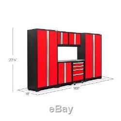 Newage Outil Cabinet Gras 3.0 Set En Acier Inoxydable Top Red 7 Pièces