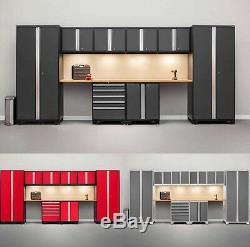 Newage Pro 3.0 Series 10 Pièces Garage Armoires Set Gris, Navires Neufs De L'usine
