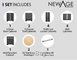 Newage Pro 3.0 Series 14 Pièces Garage Armoires Set Gris, Navires Neufs De L'usine