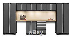 Newage Products Bold 3.0 - Ensemble D'armoires De Rangement Pour Garage Avec 10 Plans De Travail