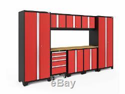 Newage Products Bold 3.0 Série Ensemble D'armoires De Rangement De 9 Pièces