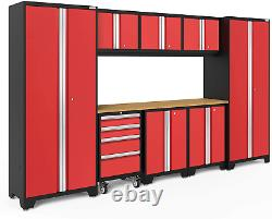 Newage Products Bold Series Red 9 Piece Set, Armoires De Garage, 50608