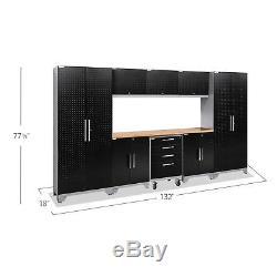 Newage Products Ensemble D'armoires De Garage 9 Pièces Avec Plaque Diamant