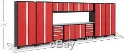 Newage Products Ensemble D'armoires De Garage En Acier Soudé De Calibre 24 'bold 3.0\