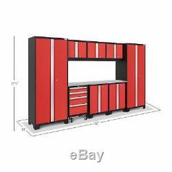 Newage Products Téméraire 3.0 9-pièces Garage Rangement Outils Armoires Workbench Red