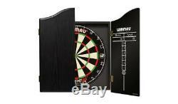 Nouveau Winmau Lame 5 Darts Championship Set De Luxe Frêne Noir Cabinet Veneer-effet