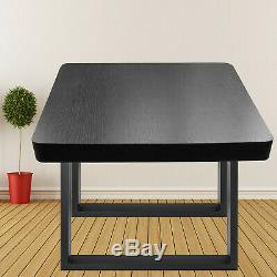 Paire De Pieds De Table Carrée En Acier Noir, 31,4 X 28,3 Pi
