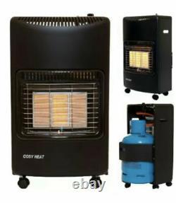 Réchauffeur Portatif À Gaz De Butane 4,2 Kw, 4200 Watts Et 3 Réglages Thermiques