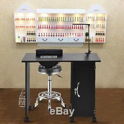 Salon Nail Art Technicien Cadre En Acier Manucure Table Bureau Set Cabinet Verrouillables