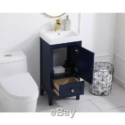 Saturn Éclairage Élégant Vf2218bl Bleu Set Vanity Sink