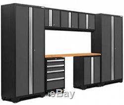 Série Newage Products Gras 3.0 8-pc. Cabinet Set Gris