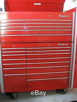 Snap-on Outils Snapon Armoire De Coffre Et Bas Set Kr690 Kr560 Nice Vêtements Usés