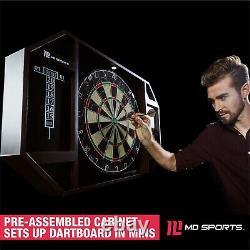 Soies Dartboard Autorétablissement Sisal Set Conseil Cabinet Led Acier Tip Darts