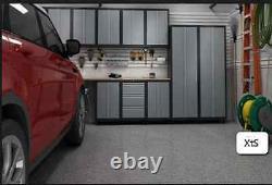 Steel Garage Cabinet Set Étagères De Rangement Armoires Mechanic Shop Tool Box Locker