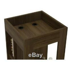 Table Portative De Support De Vin De Stemware De Chariot En Bois De Stockage De Cabinet De Mini Barre
