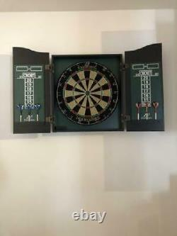 Taille Officielle Bristle Dartboard Cabinet Dart Set 18 Sisal Board Steel Tip Darts