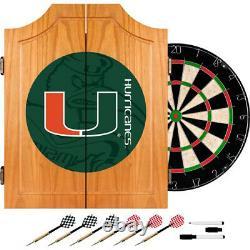 Université De Miami Bois Dart Cabinet Set, Fondu. Gameroom Des Marques. Tout Neuf