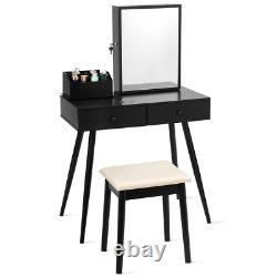Vanity Coiffeuse Ensemble Verrouillables Bijoux Avec Miroir